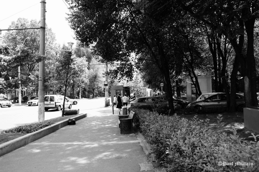 street in black and  white 4