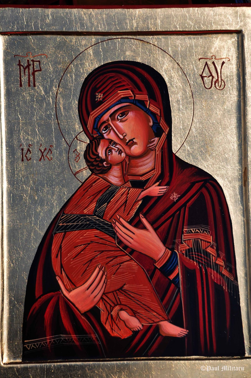 icon painted on wood and gold leaf