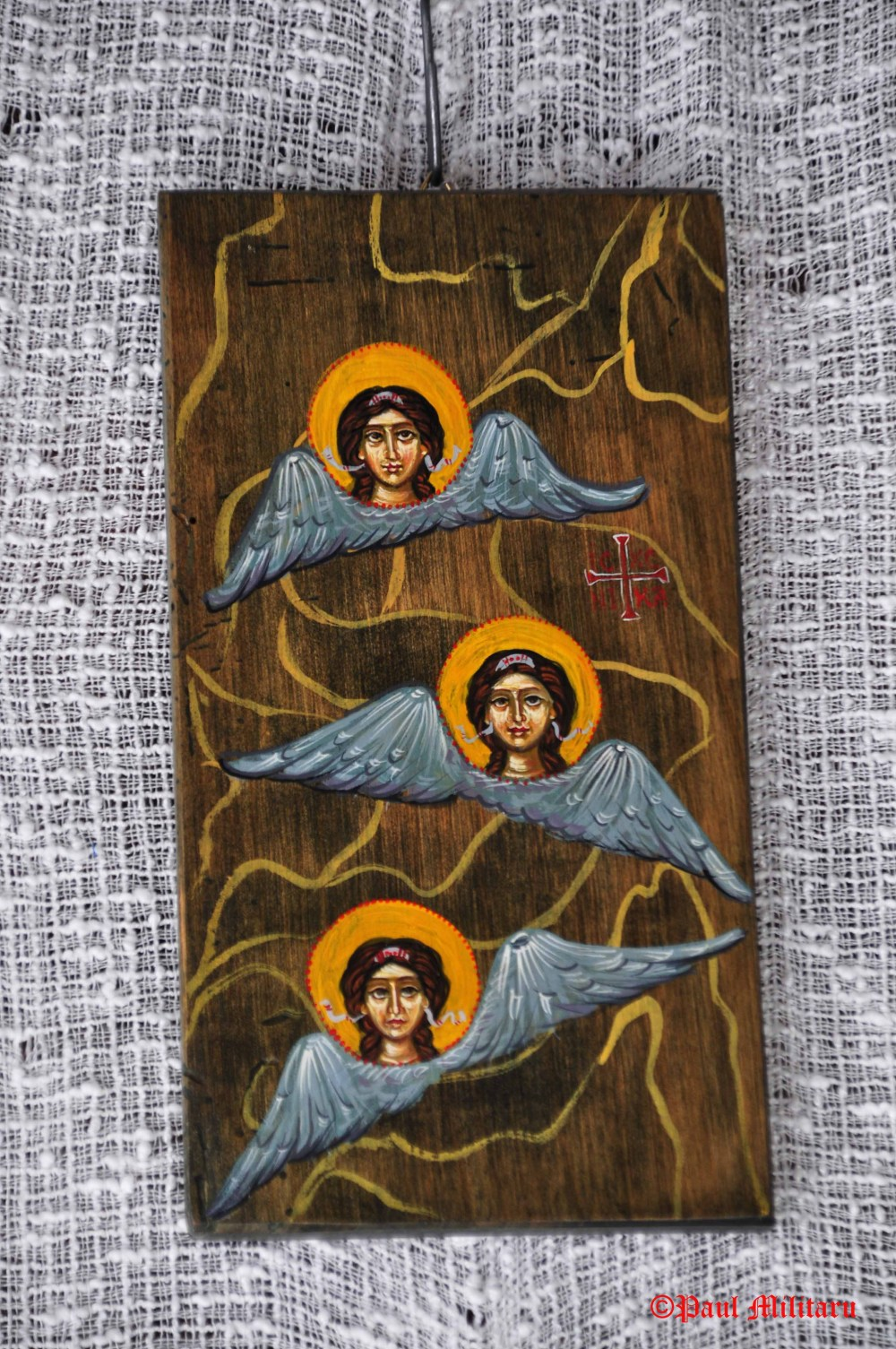 icon painted on wood