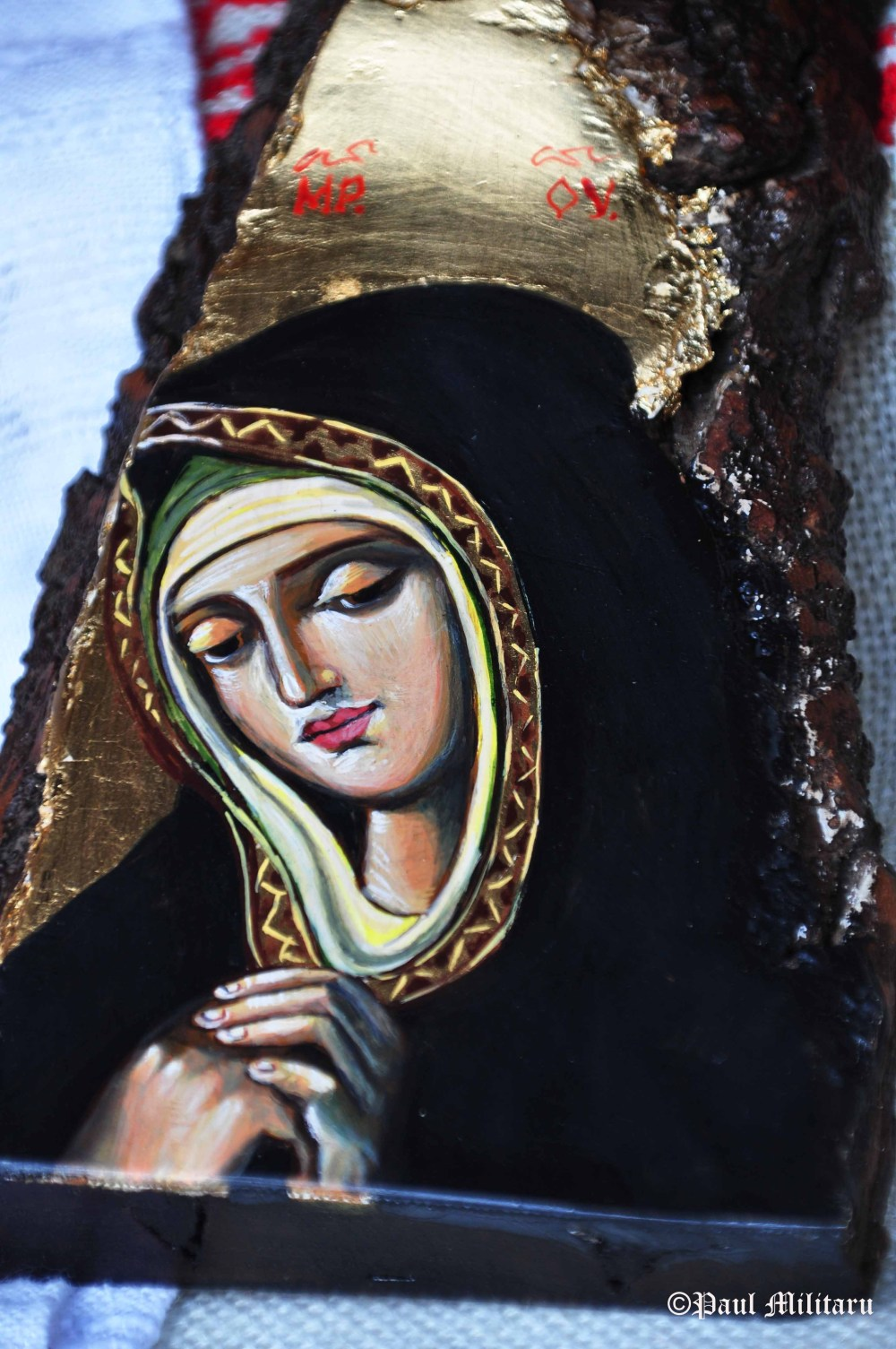 painted wooden icon