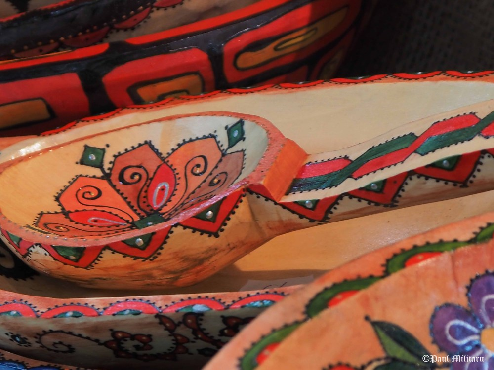 traditional painted wooden spoon