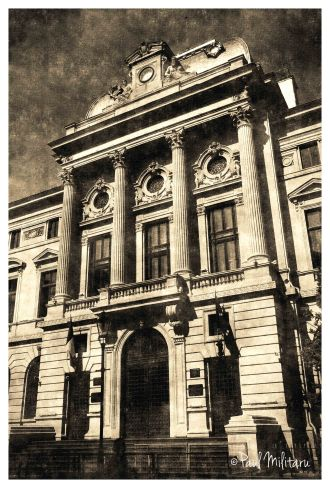 art - vintage architecture of Bucharest 1