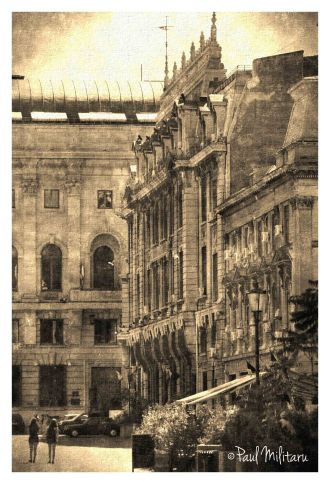 art - vintage architecture of Bucharest 2