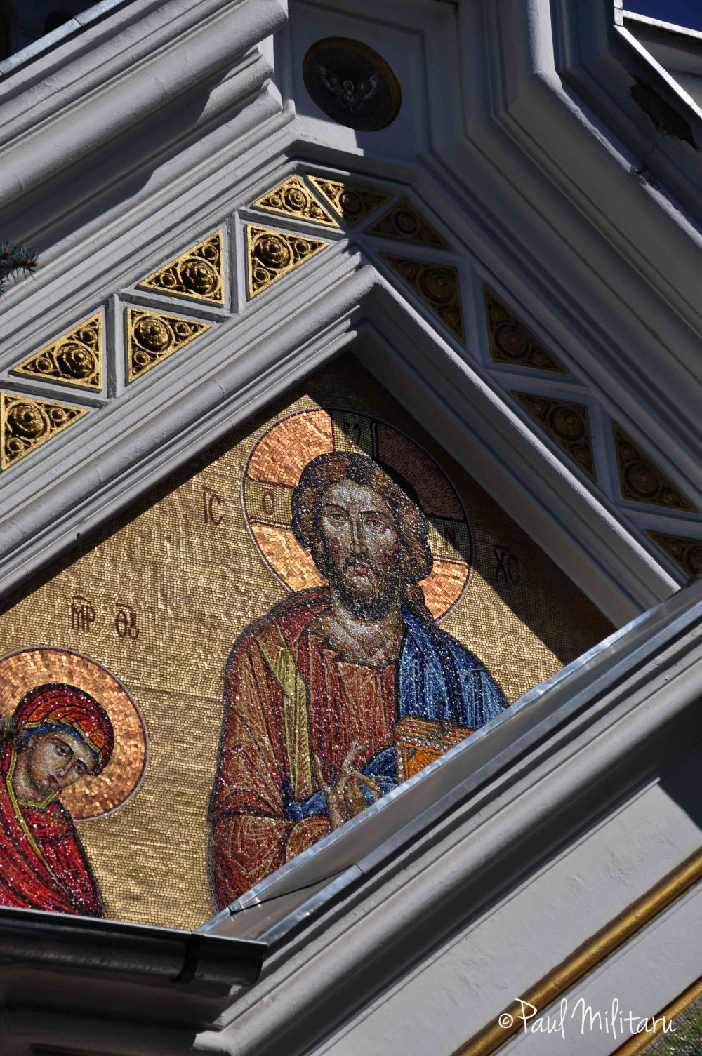 architectural geometric shapes and church mosaics