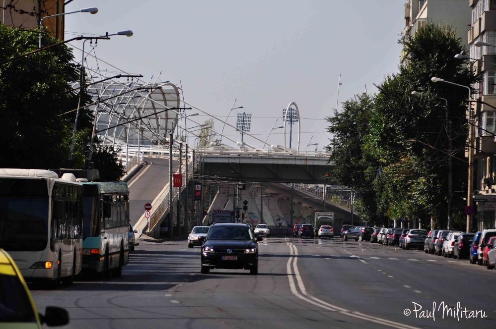 basarab bridge from bucharest