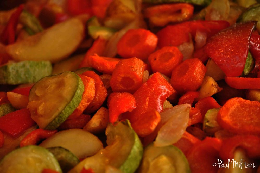 warm vegetables