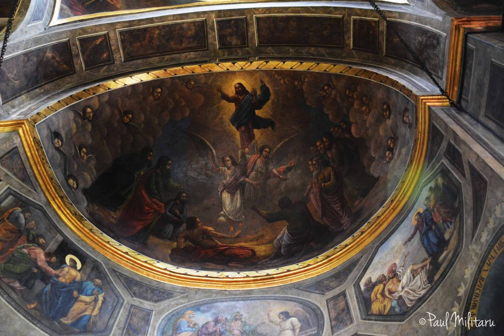 the painted dome of St. Anton's church