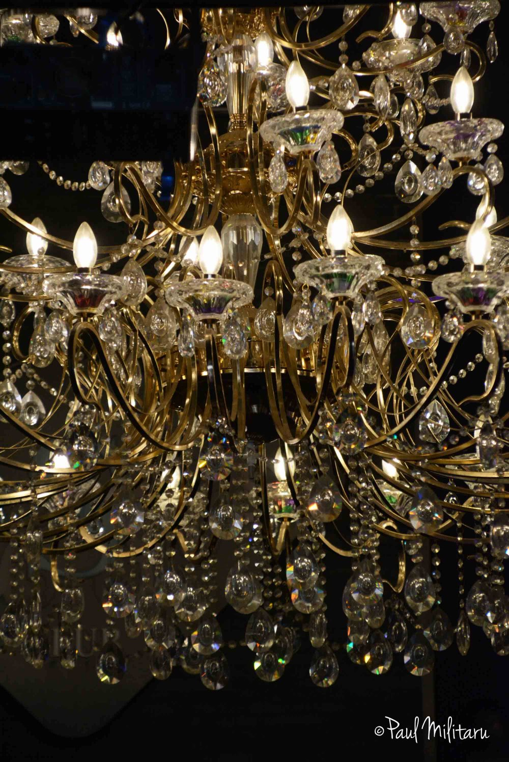 light from a chandelier