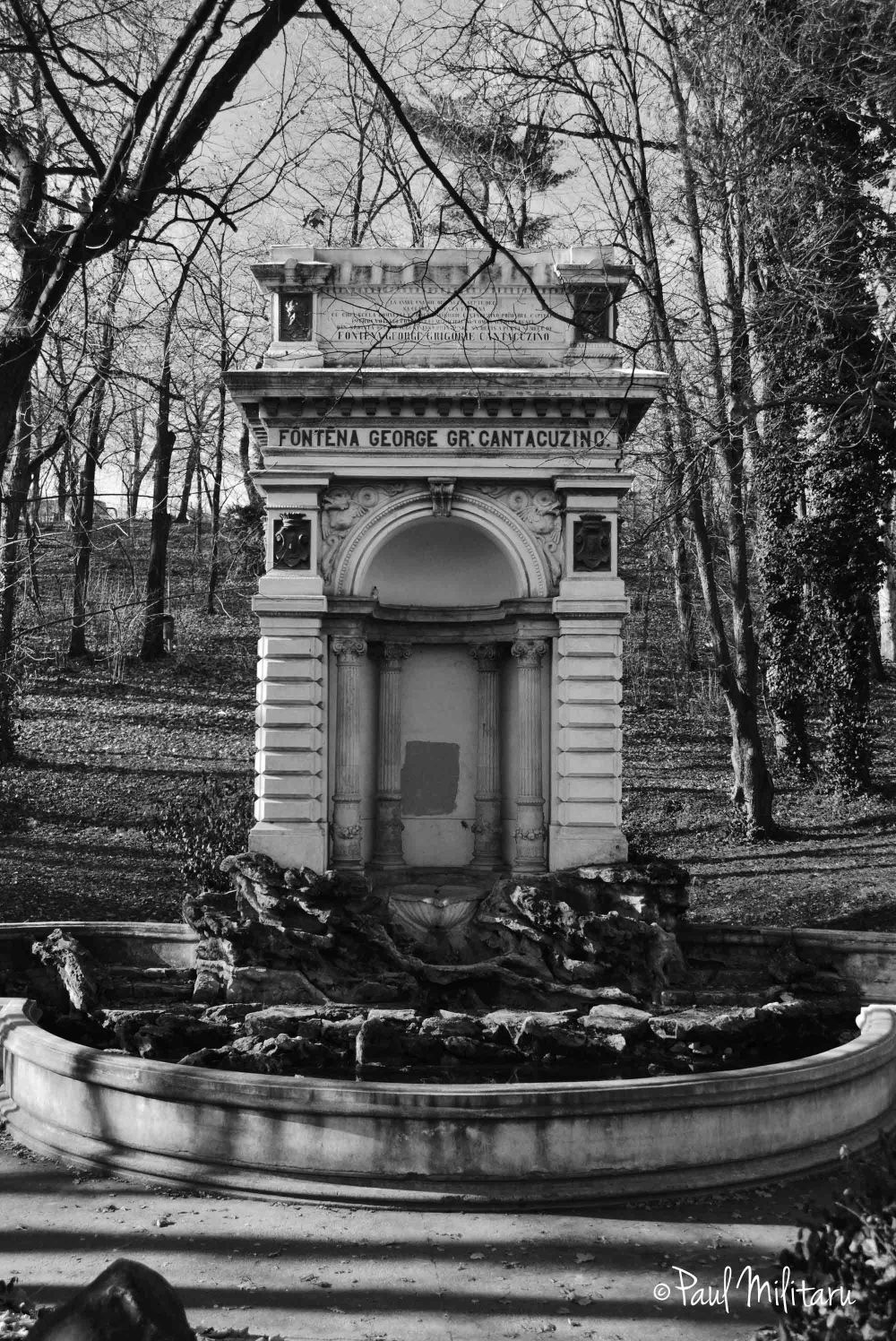 art - the Cantacuzino fountain in the Carol Park