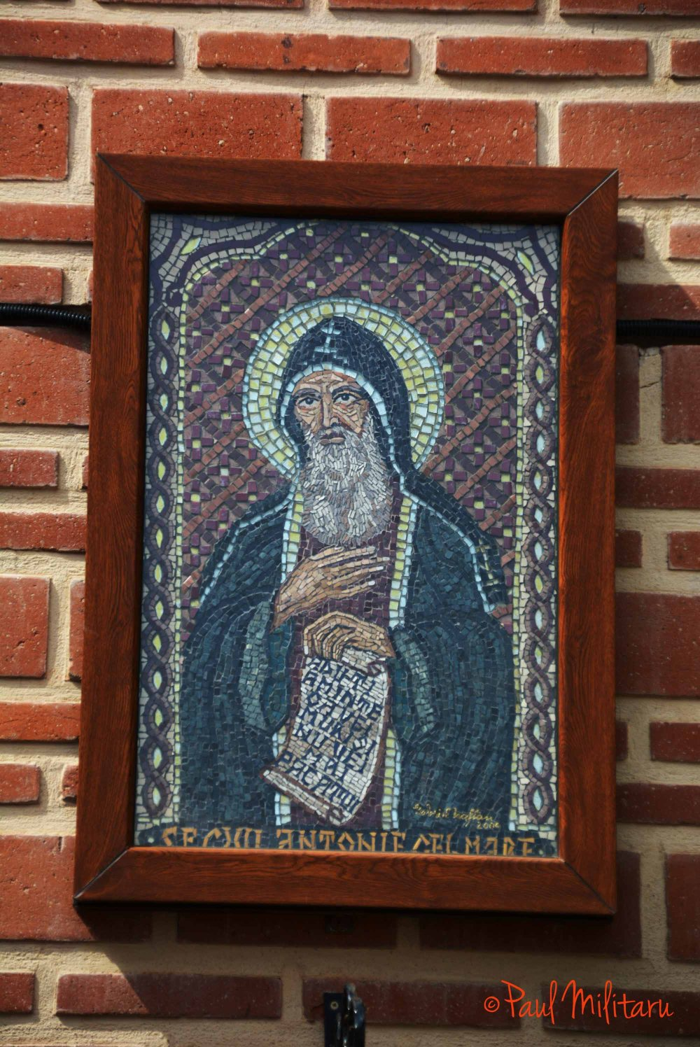 the mosaic icon Saint Anthony