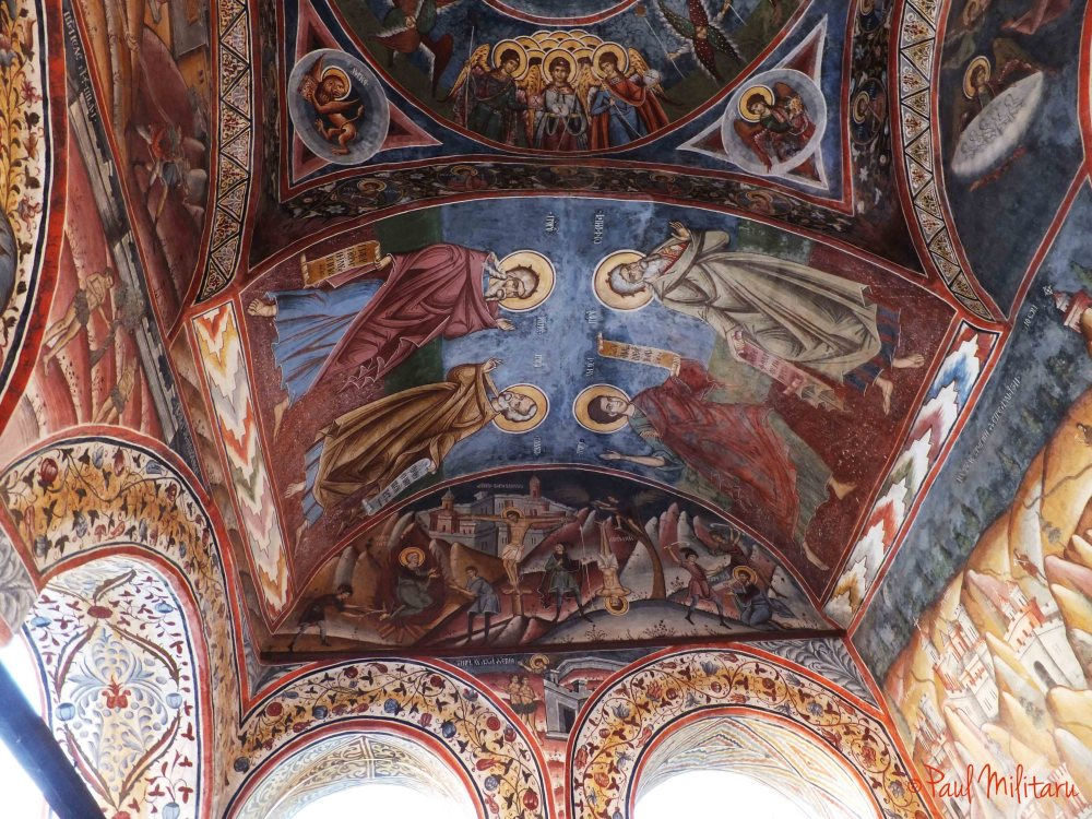 iconoclastic painted vault at the stirbey monastery-the entry