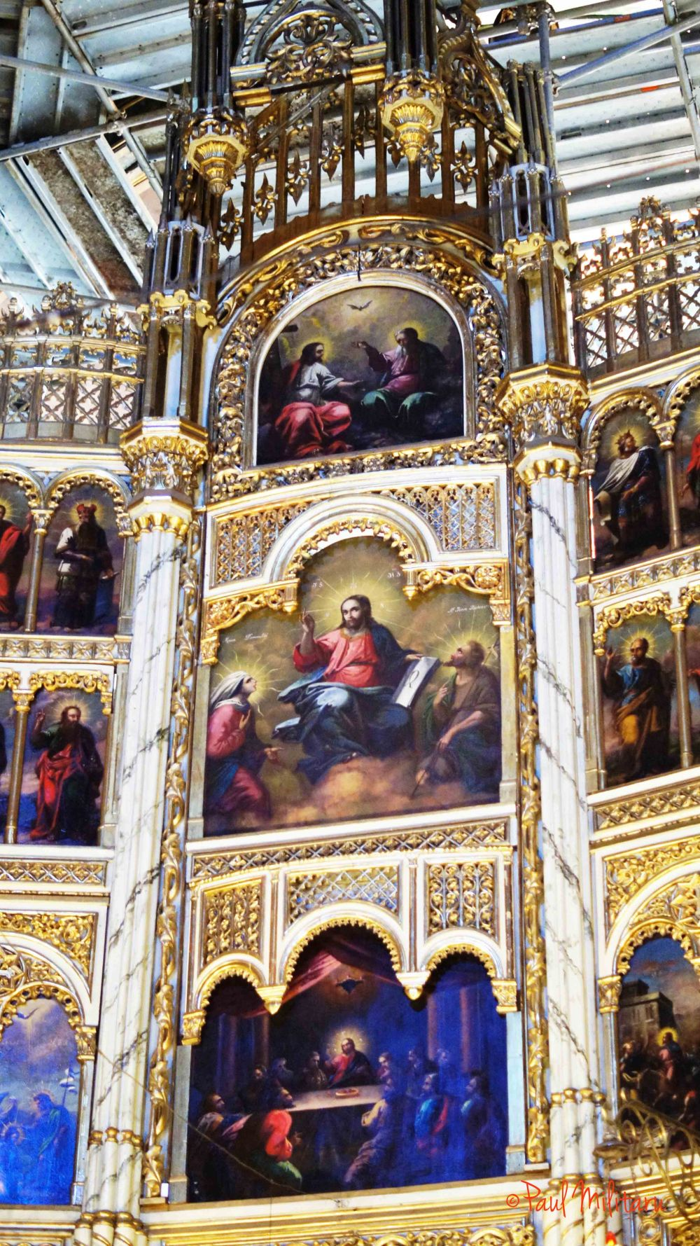 1- paintings in the church