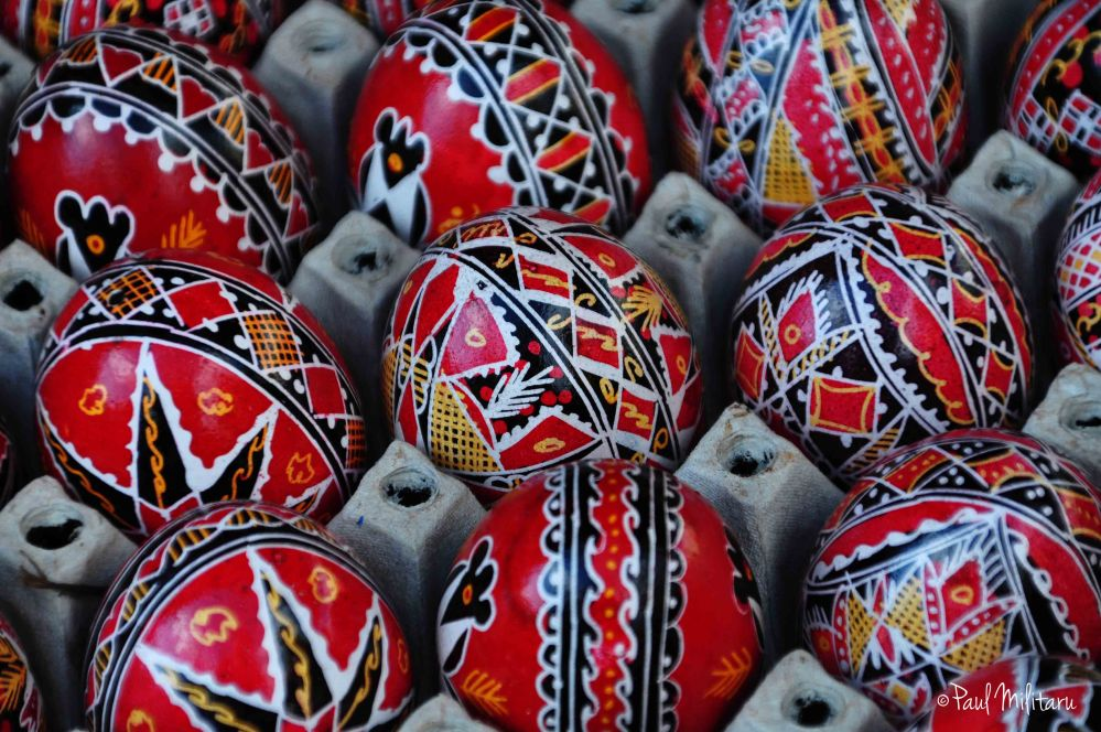 Easter eggs painted