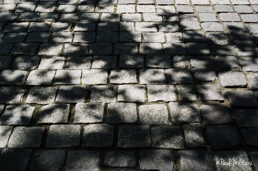 shadows on cubic stone