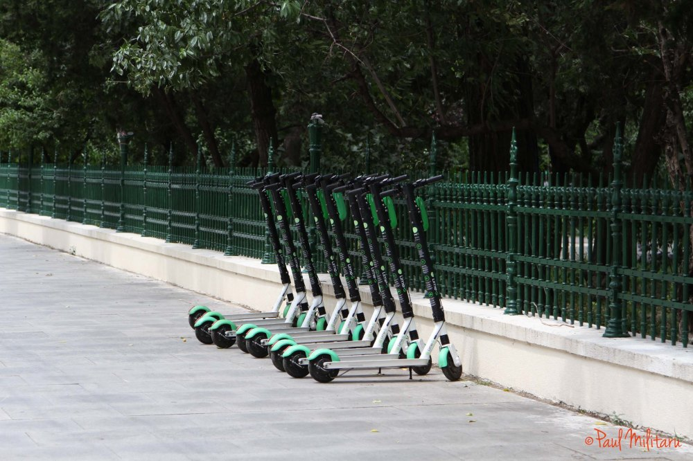 economic transport - electric scooter
