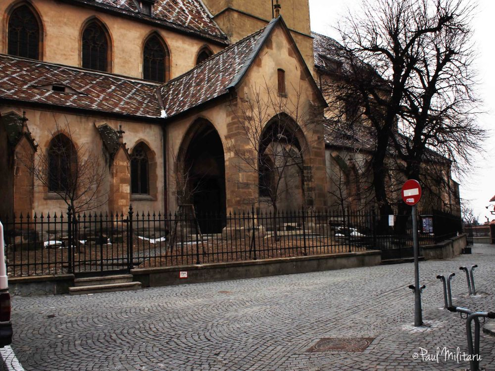 Sibiu - the entrance and gate of the evangelical church