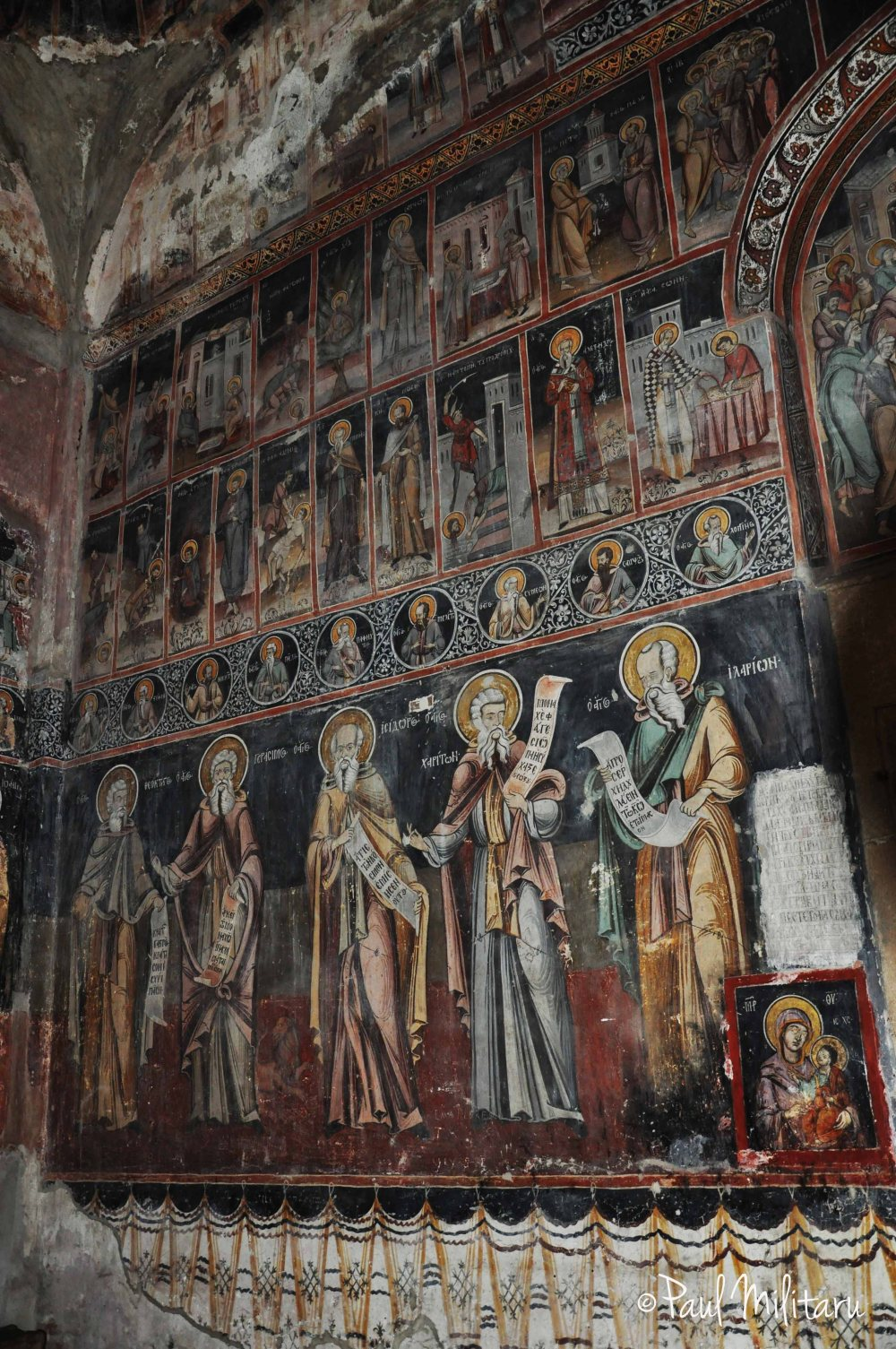 very old religious mural painting