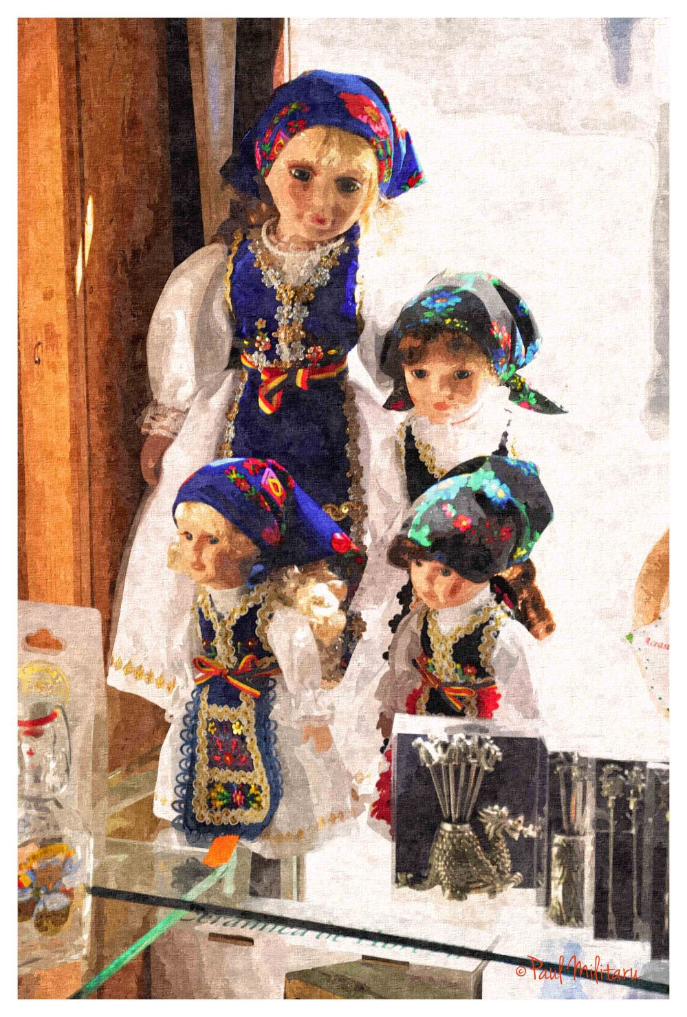 digital art - painted dolls