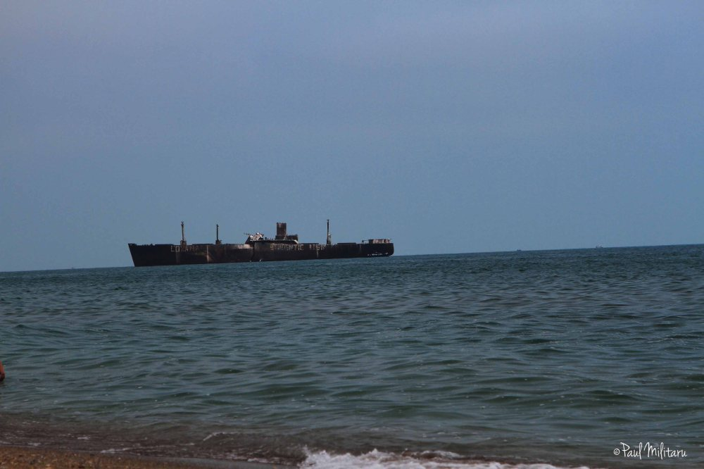 Failed ship at sea in Costinesti