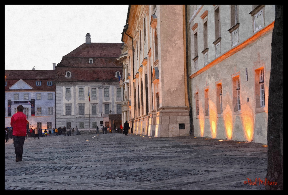 digital art - one night in Sibiu (painting)