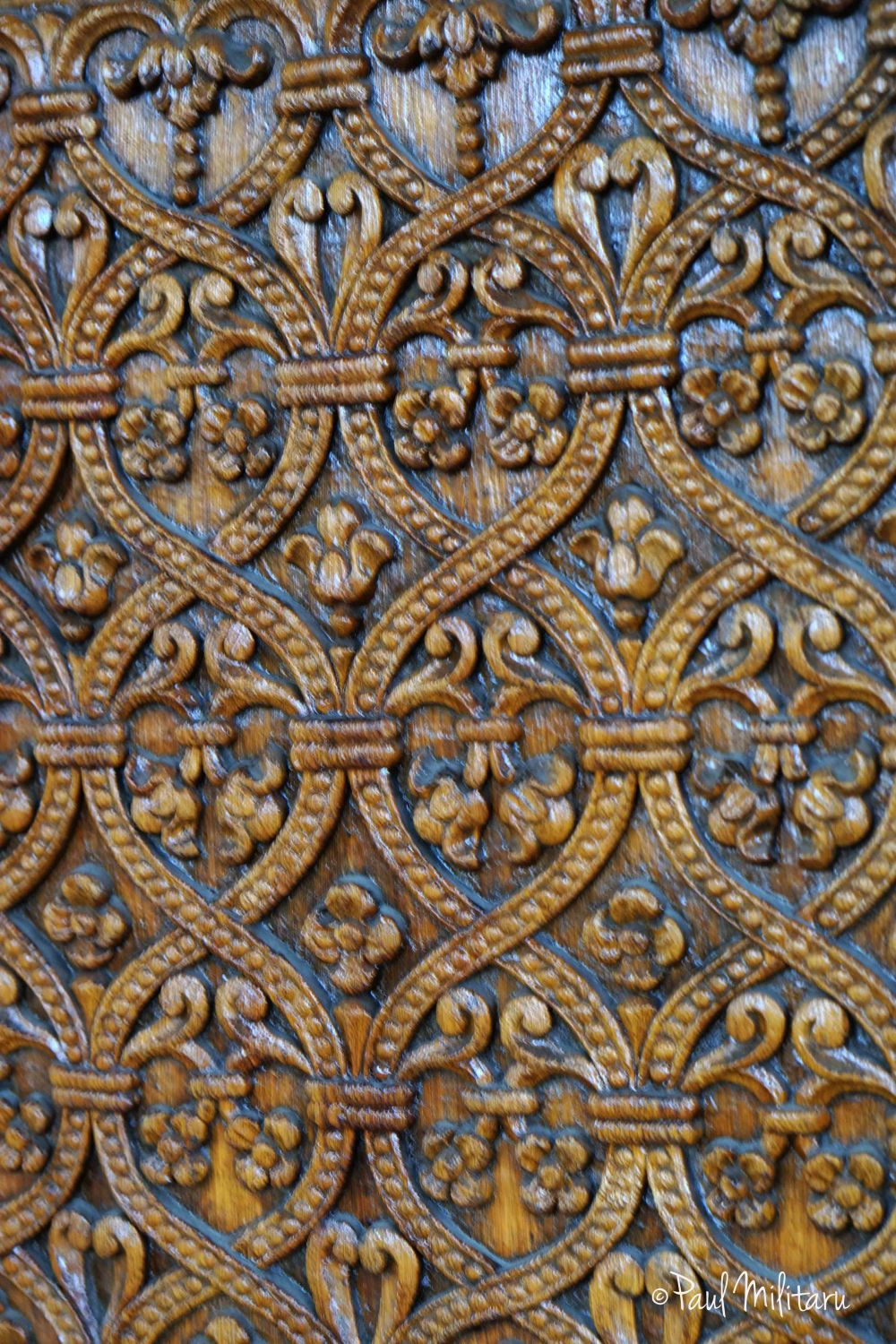 part of a door - manual wood carving