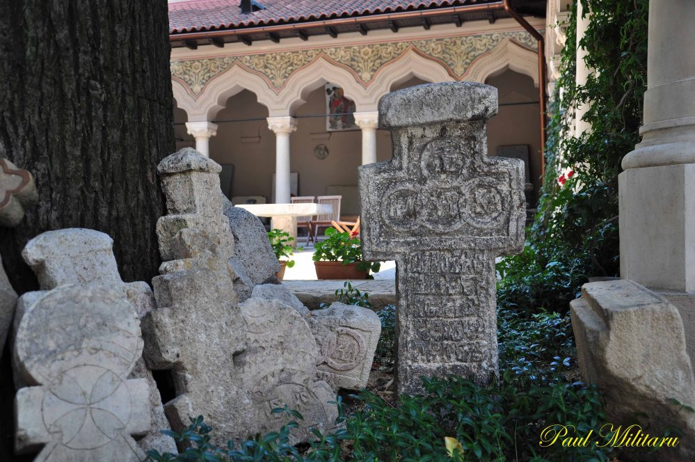 inner courtyard of the monastery of stavropoleos