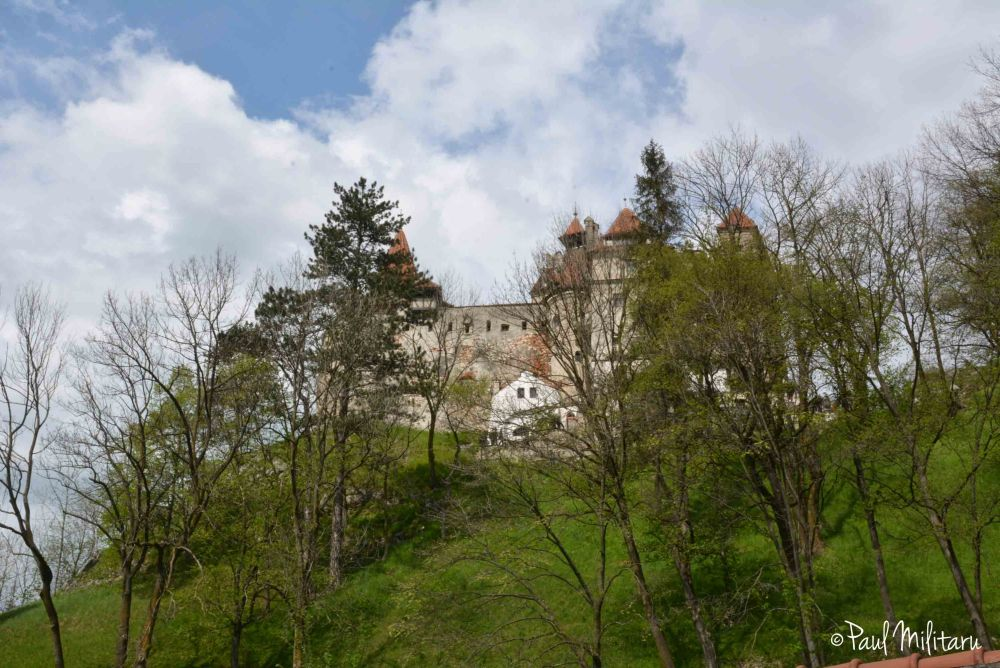 clouds above the Bran castle