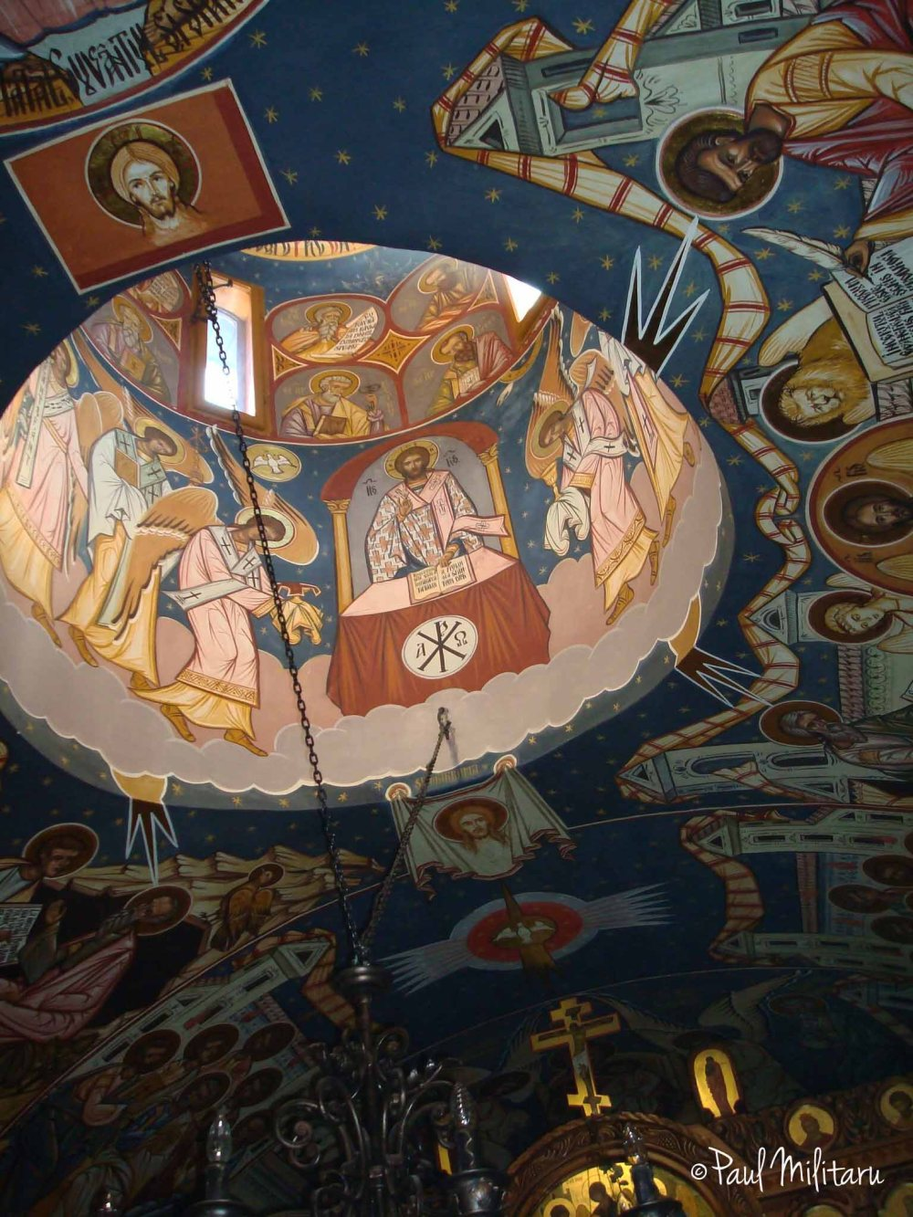 vault painted at the monastery from Polovragi
