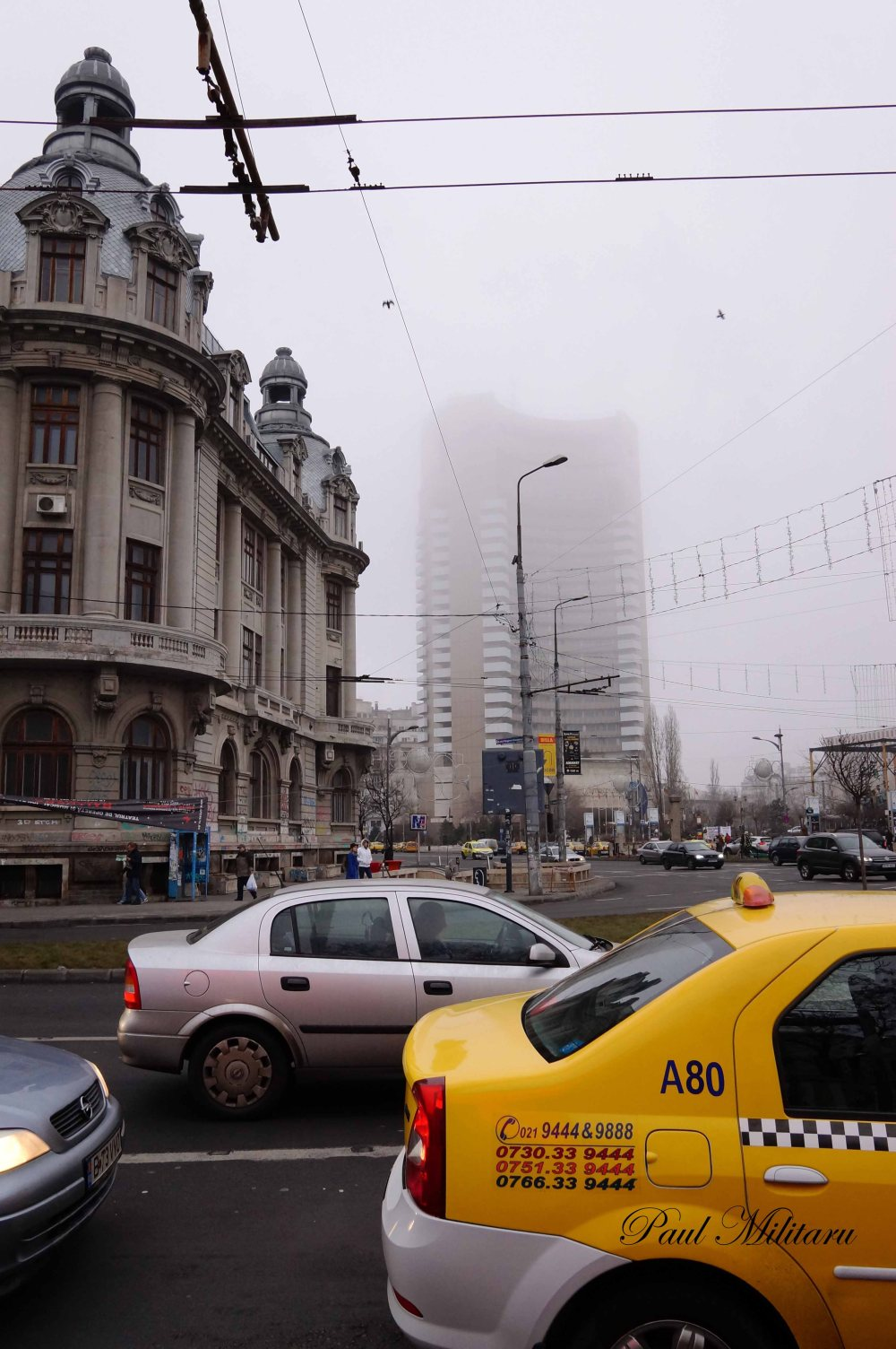 fog in Bucharest