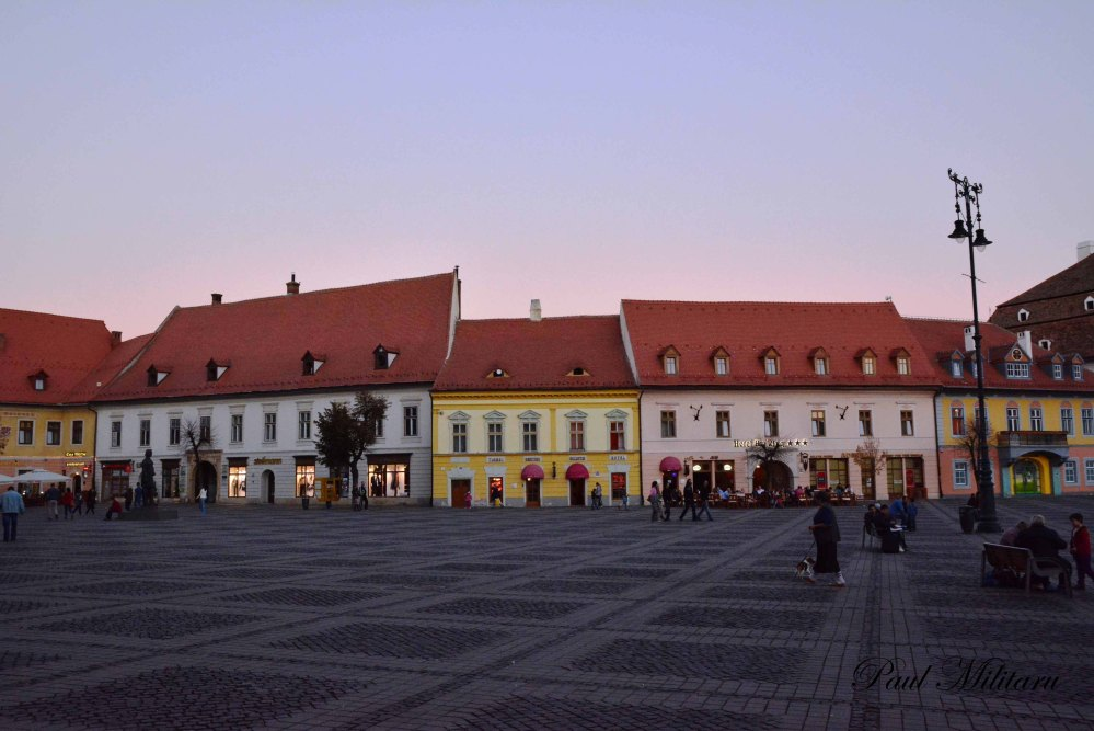 Sibiu in twilight